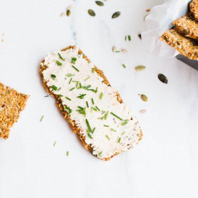 Gluten-Free Super Seed Crackers Recipe / @spotebi