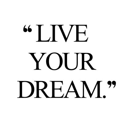 Live Your Dream | Fitness And Wellness Motivational Quote / @spotebi
