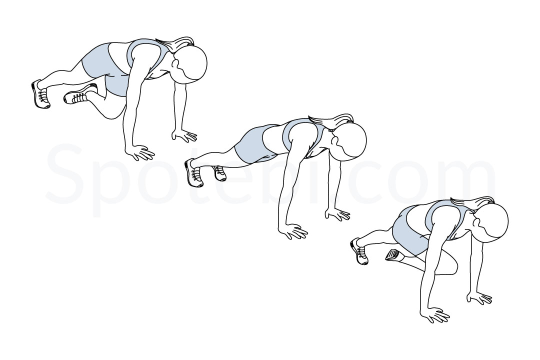 Mountain Climber Twist | Illustrated Exercise Guide