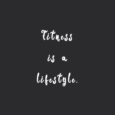Fitness Is A Lifestyle | Self-Love And Healthy Lifestyle Inspirational Quote / @spotebi