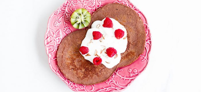 Gluten-Free Cacao and Banana Pancakes