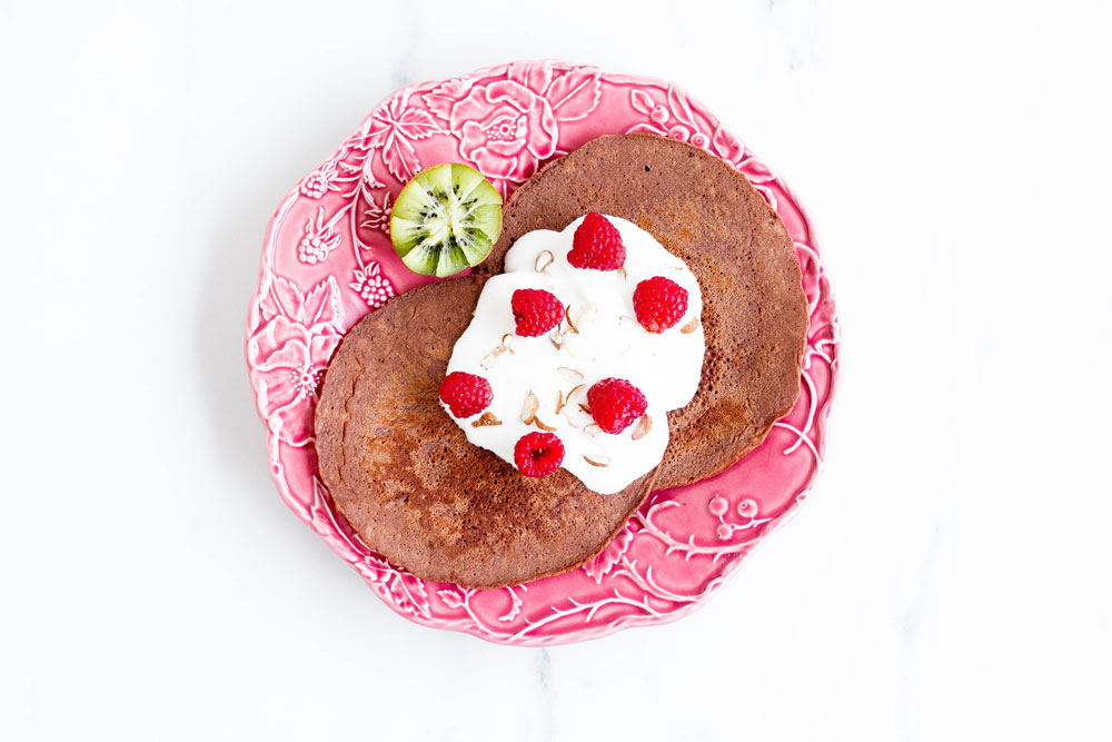 Gluten-Free Cacao and Banana Pancakes Recipe: A breakfast favorite that provides a number of essential nutrients without any added sugars or fats! https://www.spotebi.com/recipes/gluten-free-cacao-banana-pancakes/