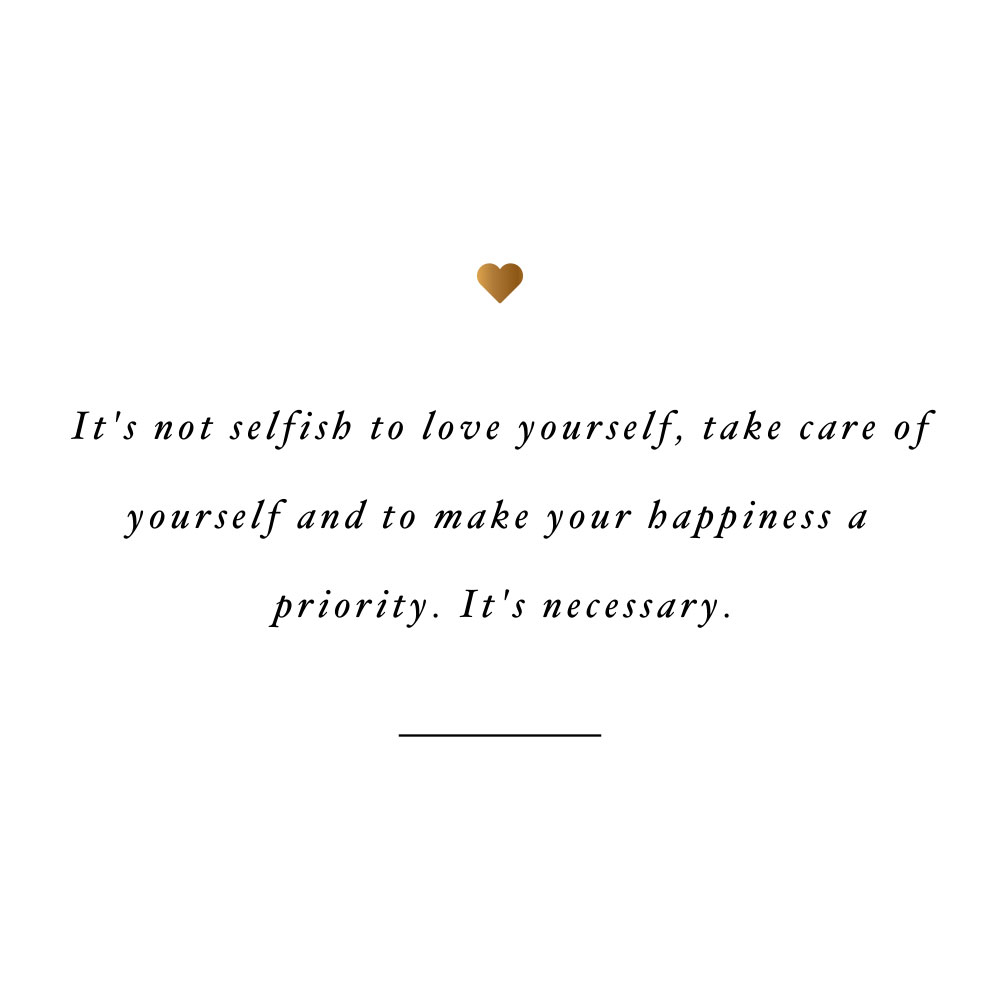 Loving yourself is necessary! Browse our collection of inspirational fitness and wellness quotes and get instant self-love and healthy lifestyle motivation. Stay focused and get fit, healthy and happy! https://www.spotebi.com/workout-motivation/loving-yourself-is-necessary/
