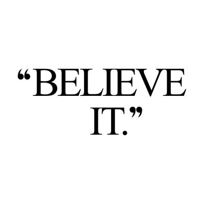 Believe It   Training And Healthy Eating Inspirational Quote / @spotebi