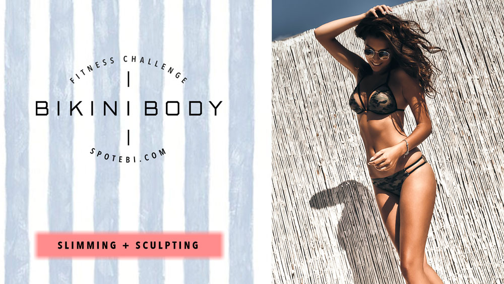 Feel confident and joyful all summer long with the help of our complete Bikini Body Program! Follow the 8-week workout plan to tone, tighten and whip your body and mind into bikini-ready shape! Learn simple lifestyle changes and adopt new habits to regain energy, vitality and reveal a sleek, sexy and healthy summer body!