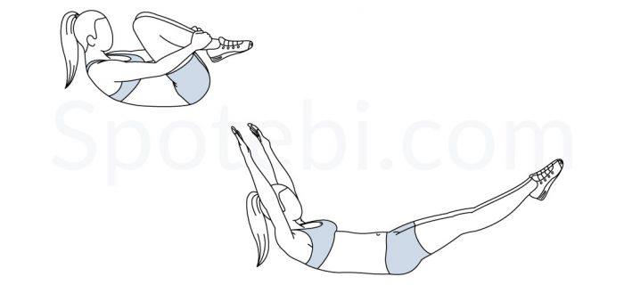 Double Leg Stretch | Illustrated Exercise Guide