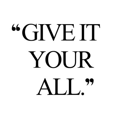 Give It Your All | Fitness And Wellness Motivation Quote / @spotebi