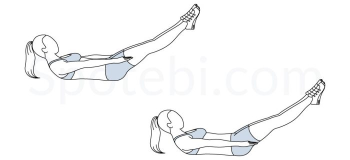 Pilates Hundred | Illustrated Exercise Guide