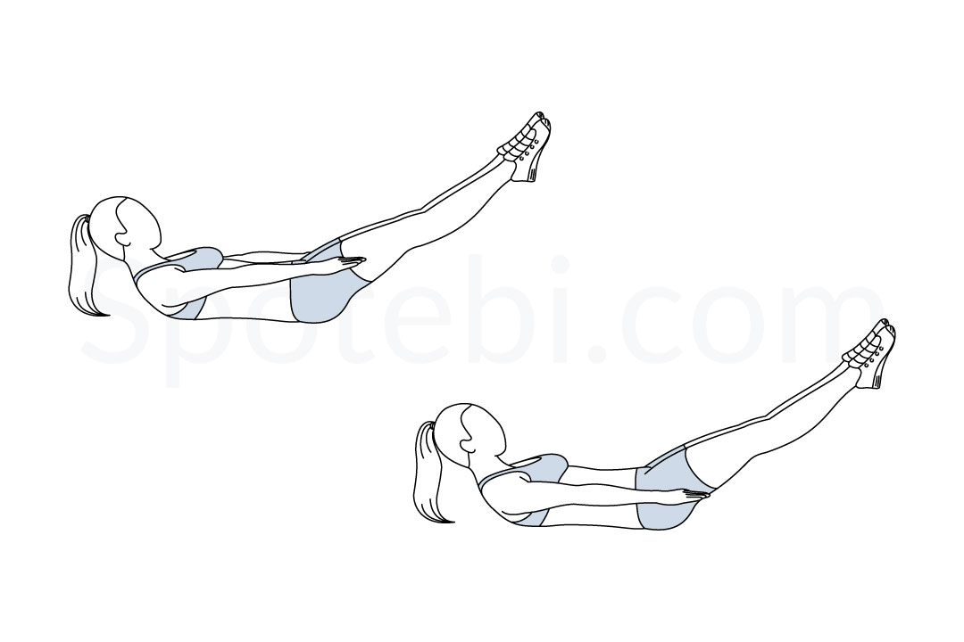 Pilates hundred exercise guide with instructions, demonstration, calories burned and muscles worked. Learn proper form, discover all health benefits and choose a workout. https://www.spotebi.com/exercise-guide/pilates-hundred/