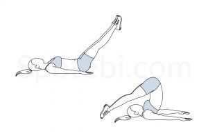Roll over exercise guide with instructions, demonstration, calories burned and muscles worked. Learn proper form, discover all health benefits and choose a workout. https://www.spotebi.com/exercise-guide/roll-over/