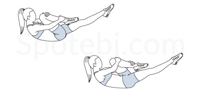 Single Leg Stretch | Illustrated Exercise Guide