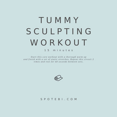 No-Equipment 15-Minute Tummy Sculpting Workout | Workout Videos