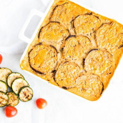 Vegetarian Lentil & Eggplant Moussaka Recipe / @spotebi