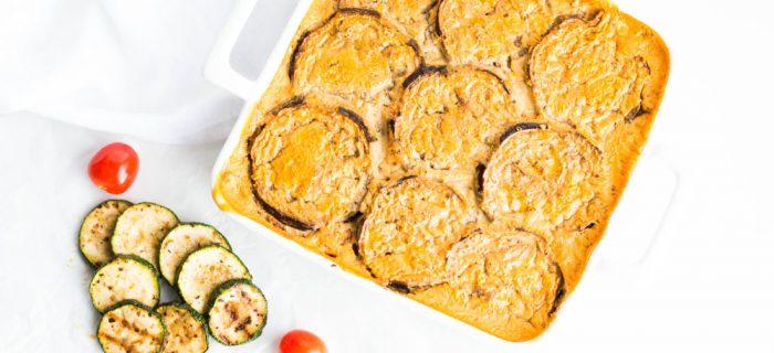 Vegetarian Lentil & Eggplant Moussaka