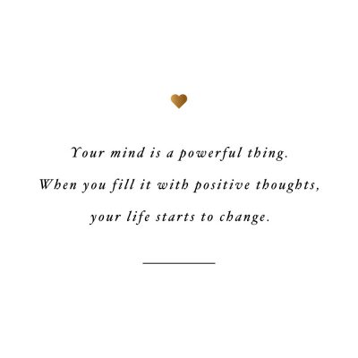 Your Mind Is Powerful | Inspirational Self-Love And Healthy Lifestyle Quote / @spotebi