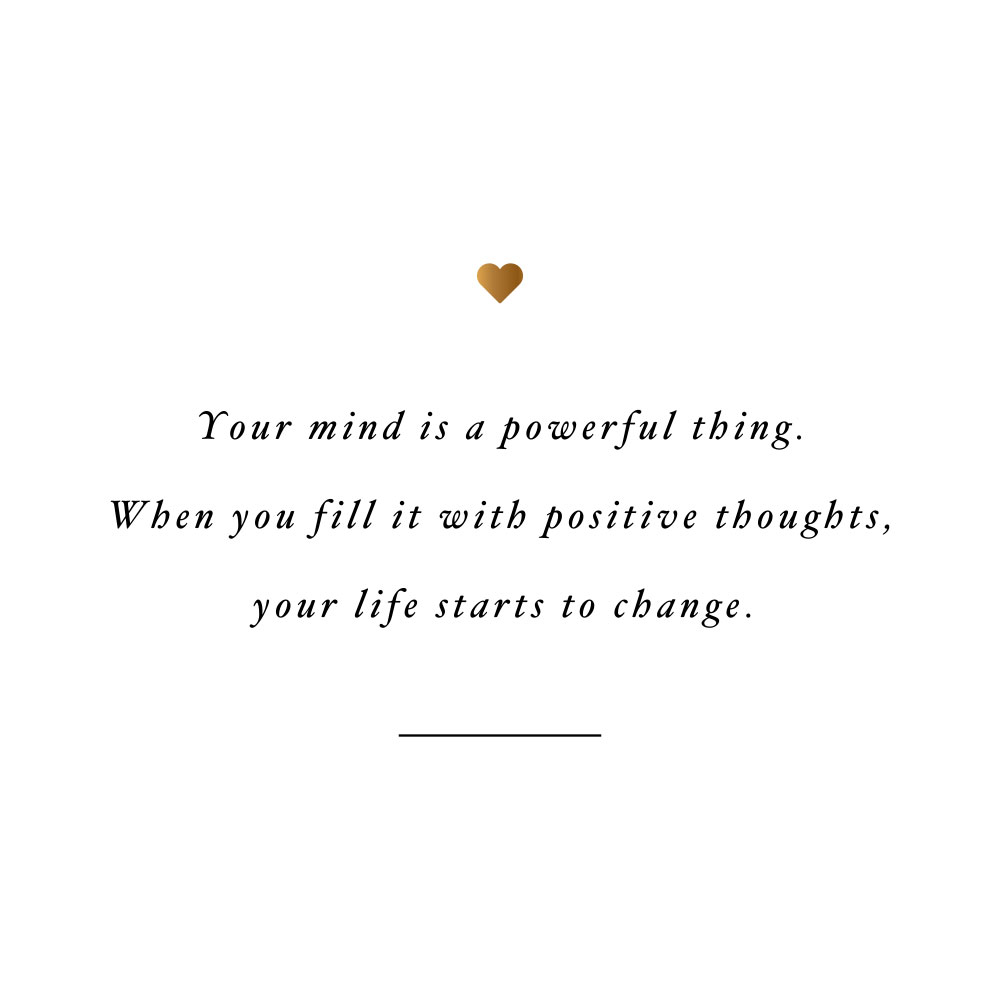 Your mind is powerful! Browse our collection of inspirational self-love and healthy lifestyle quotes and get instant fitness and wellness motivation. Stay focused and get fit, healthy and happy! https://www.spotebi.com/workout-motivation/your-mind-is-powerful/