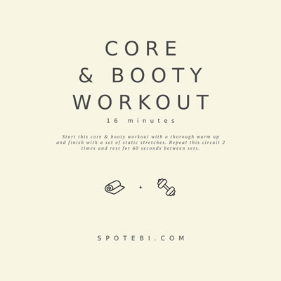 At Home Core and Booty Workout | Workout Videos