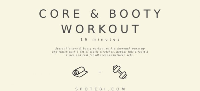 At Home Core and Booty Workout