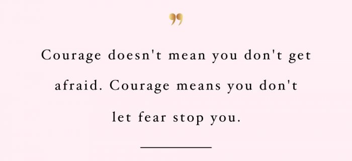 Don't Let Fear Stop You | Health And Wellness Quote