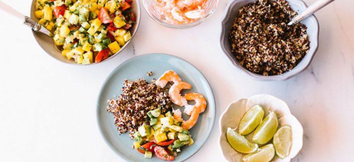 Healthy Mango, Avocado & Shrimp Salad