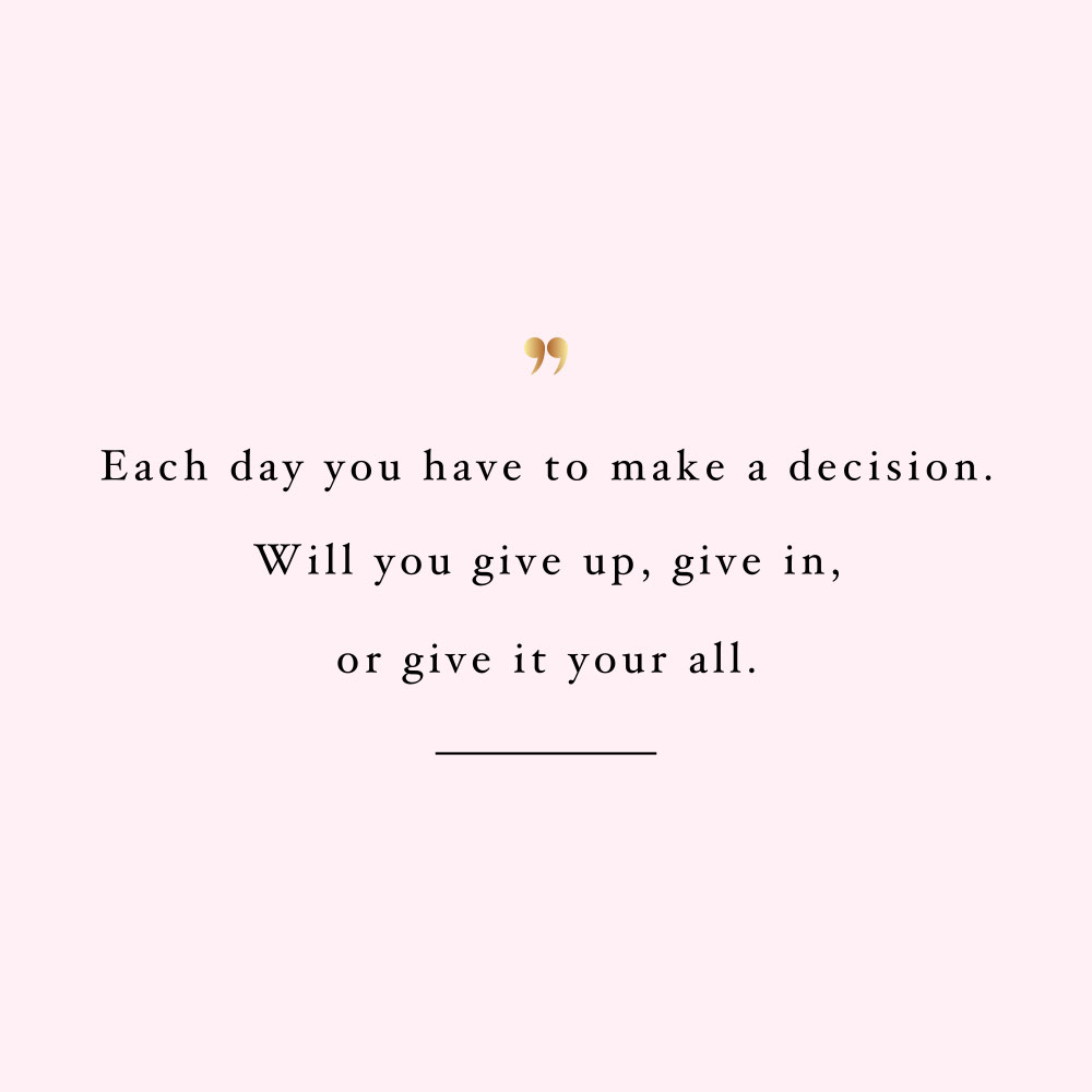 Make a decision! Browse our collection of motivational fitness and healthy lifestyle quotes and get instant health and wellness inspiration. Stay focused and get fit, healthy and happy! https://www.spotebi.com/workout-motivation/make-a-decision/