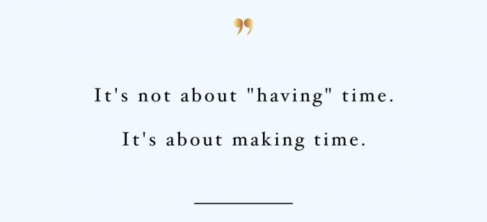 Make Time | Health And Wellness Inspirational Quote