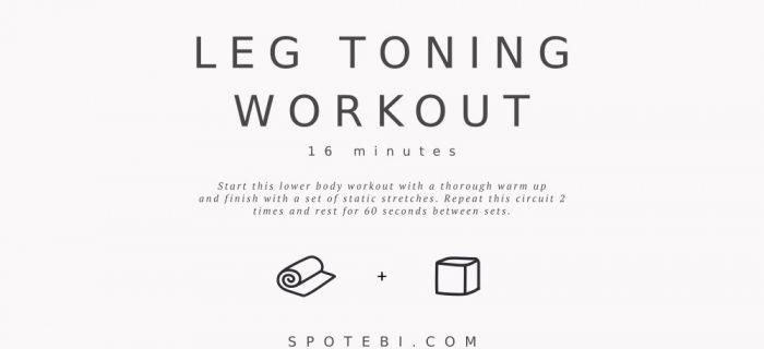 16-Minute Leg Toning Workout