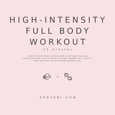 High-Intensity Full Body Workout | Workout Videos