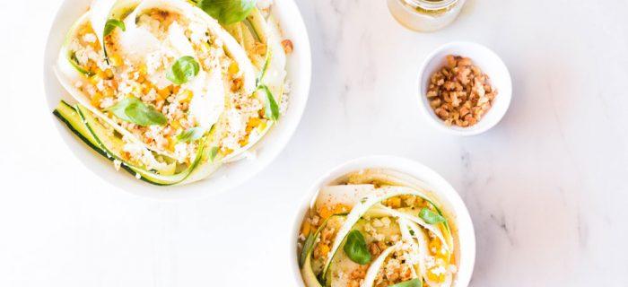 No-Cook Zucchini, Feta and Corn Salad Recipe