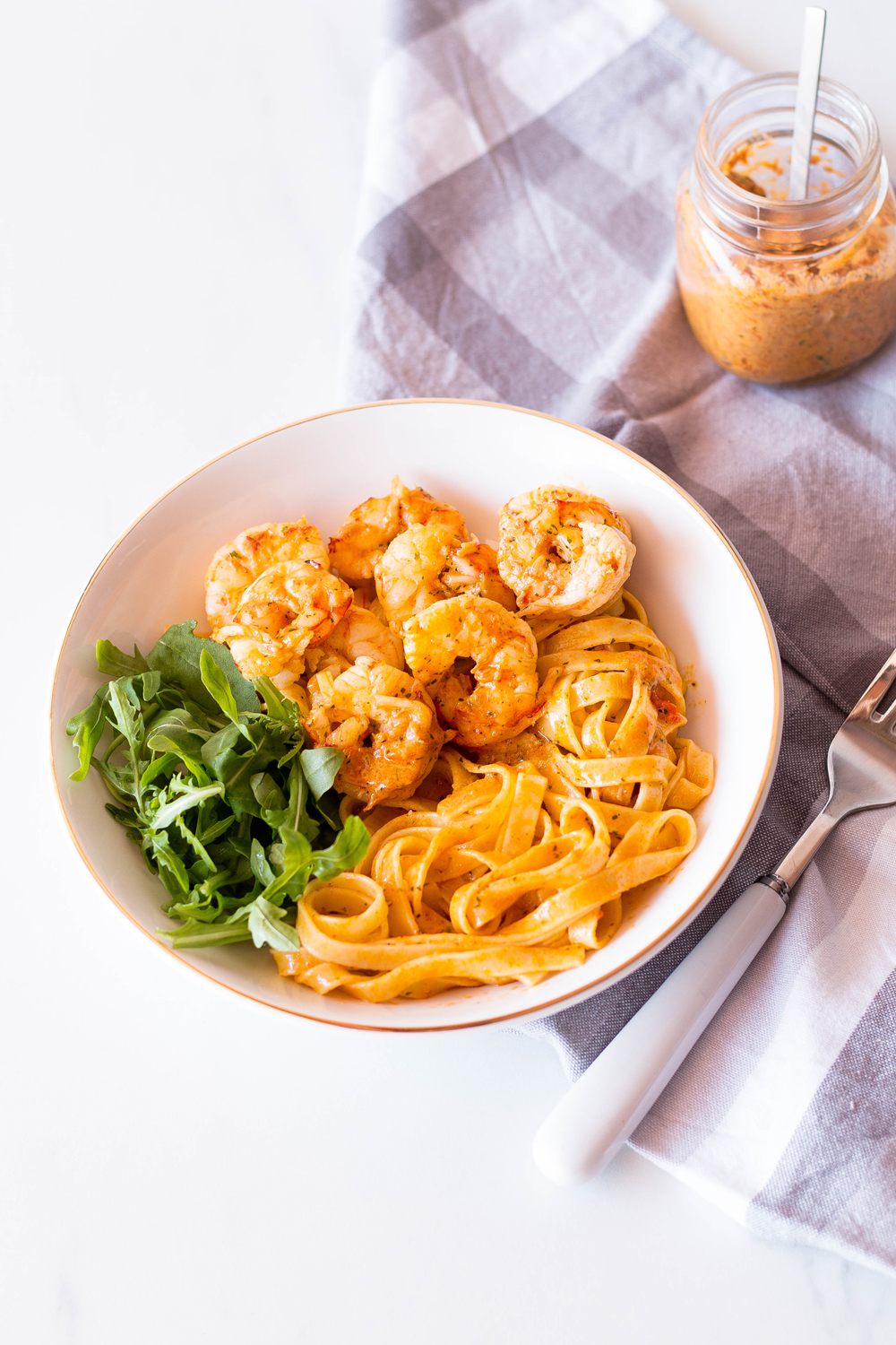 Since the quality of food we eat plays one of the most significant roles in hormonal imbalance, it's time you feed your body and soul with this buttery, garlicky, and oh so creamy shrimp fettuccine. One serving size provides you with enough saturated fat and cholesterol to get you through the day, plus the homemade tomato and garlic butter is pretty damn delicious! https://www.spotebi.com/recipes/garlic-lemon-tomatoes-shrimp-fettuccine/