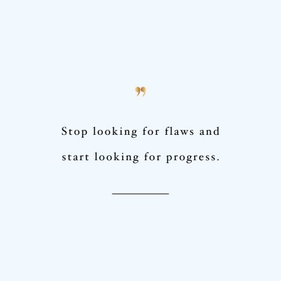 Look For Progress   Health And Wellness Inspiration Quote / @spotebi