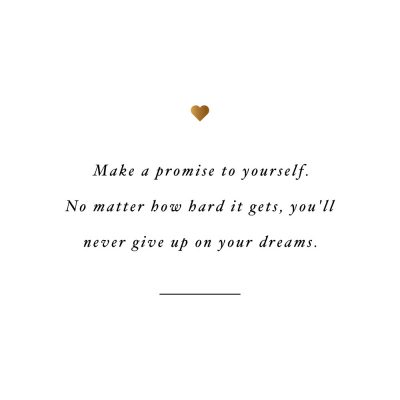 Never Give Up On Your Dreams | Health And Wellness Motivation Quote / @spotebi