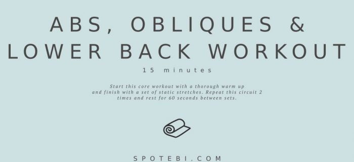 15-Minute Abs, Obliques & Lower Back Workout