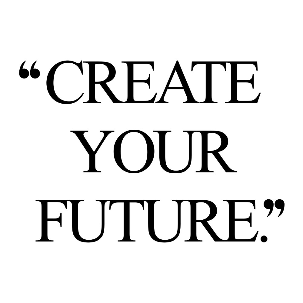 Create your future! Browse our collection of motivational health and fitness quotes and get instant wellness and healthy lifestyle inspiration. Stay focused and get fit, healthy and happy! https://www.spotebi.com/workout-motivation/create-your-future/