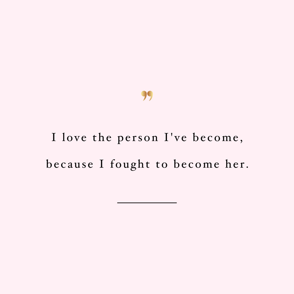 Love the person you are becoming! Browse our collection of inspirational wellness and healthy lifestyle quotes and get instant health and fitness motivation. Stay focused and get fit, healthy and happy! https://www.spotebi.com/workout-motivation/love-the-person-you-are-becoming/