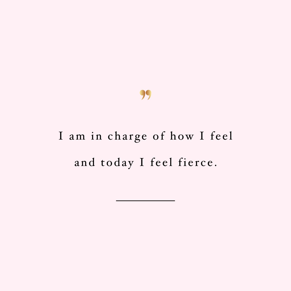 Today I Feel Fierce Inspirational Wellness And Healthy Lifestyle Quote