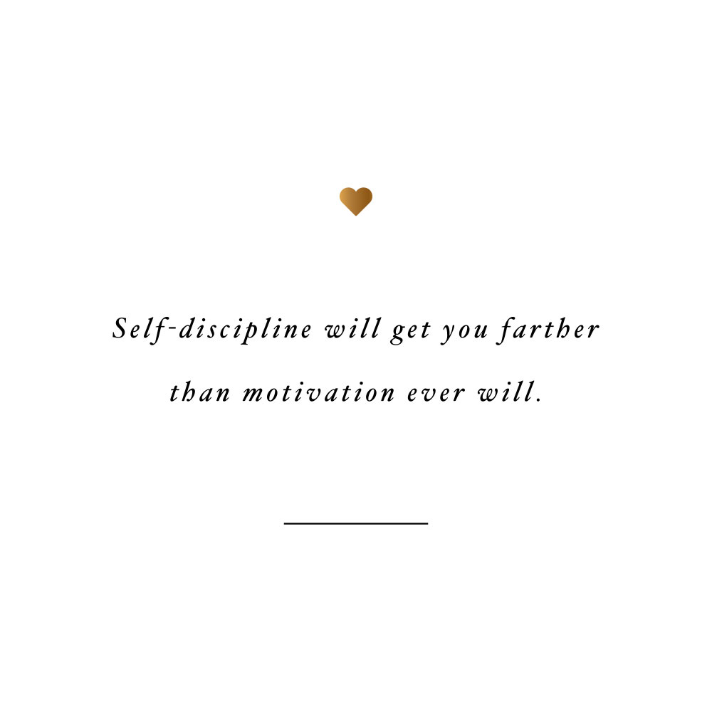 Self-discipline will get you farther! Browse our collection of inspirational self-love and wellness quotes and get instant fitness and healthy lifestyle motivation. Stay focused and get fit, healthy and happy! https://www.spotebi.com/workout-motivation/self-discipline-will-get-you-farther/