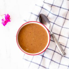 Easy Vegan Red Bean Soup Recipe / @spotebi
