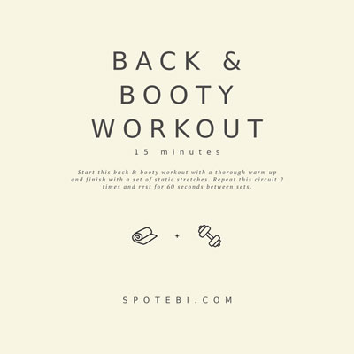 15-Minute Back & Booty Workout | Workout Videos