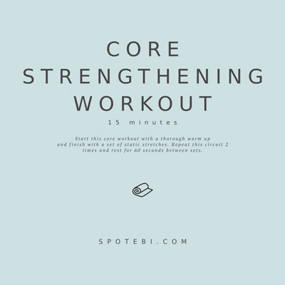 15-Minute Core Strengthening Workout | Workout Videos