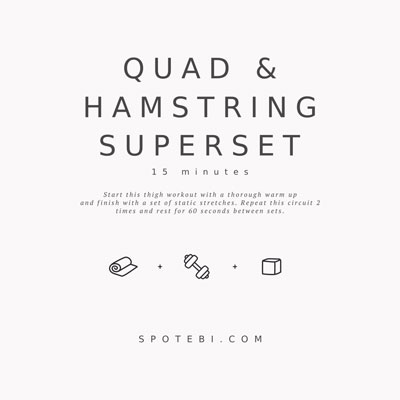 15-Minute Quad & Hamstring Superset | Workout Videos