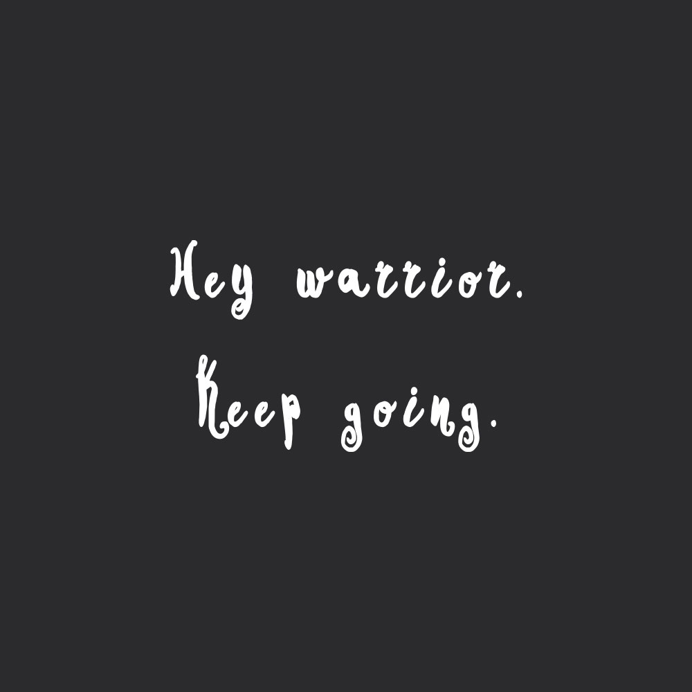 Keep going, warrior! Browse our collection of motivational self-love and exercise quotes and get instant fitness and healthy lifestyle inspiration. Stay focused and get fit, healthy and happy! https://www.spotebi.com/workout-motivation/keep-going-warrior/