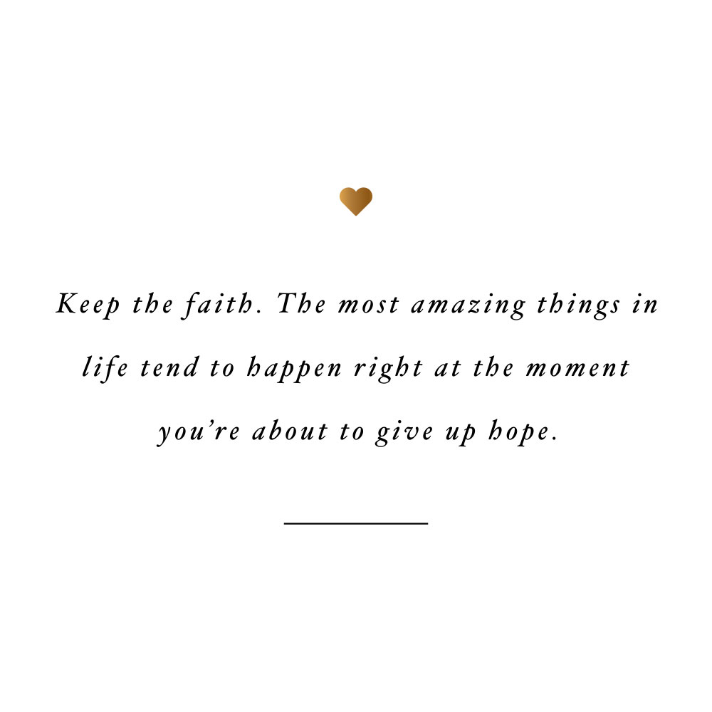 Keep the faith! Browse our collection of motivational fitness and healthy lifestyle quotes and get instant self-love and exercise inspiration. Stay focused and get fit, healthy and happy! https://www.spotebi.com/workout-motivation/keep-the-faith/
