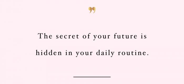The Secret Of Your Future | Self-Love And Wellness Inspiration Quote