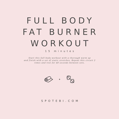 15-Minute Full Body Fat Burner Workout | Workout Videos