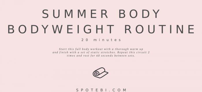 20-Minute Summer Body Bodyweight Routine