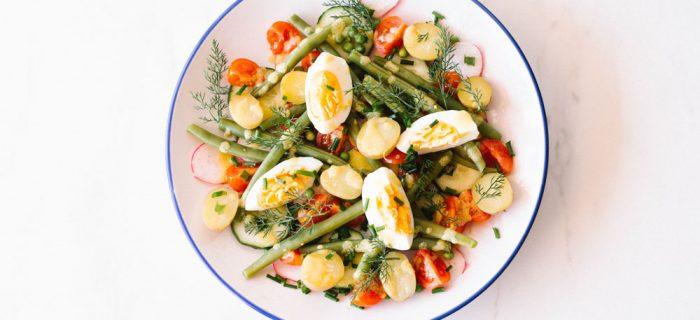 Egg & Potato Salad with Herbs & Lemon Dijon Vinaigrette