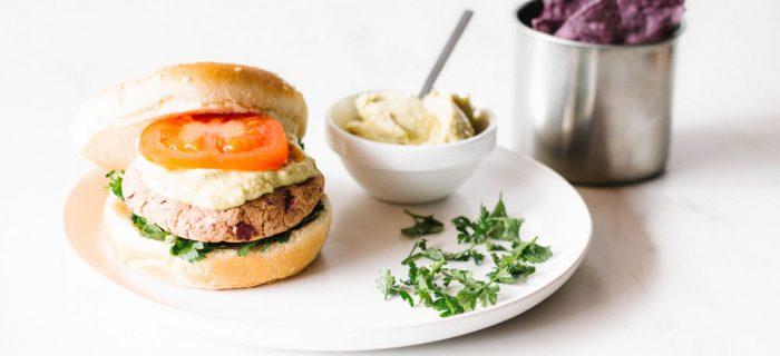 Sweet Potato & Red Bean Veggie Burgers