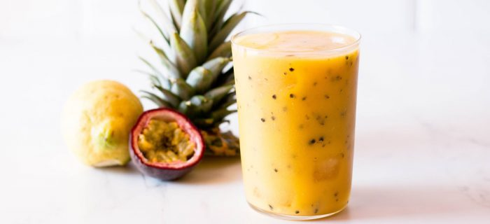 Passion Fruit, Mango & Pineapple Tropical Smoothie