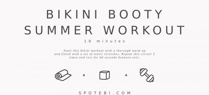10-Minute Bikini Booty Summer Workout